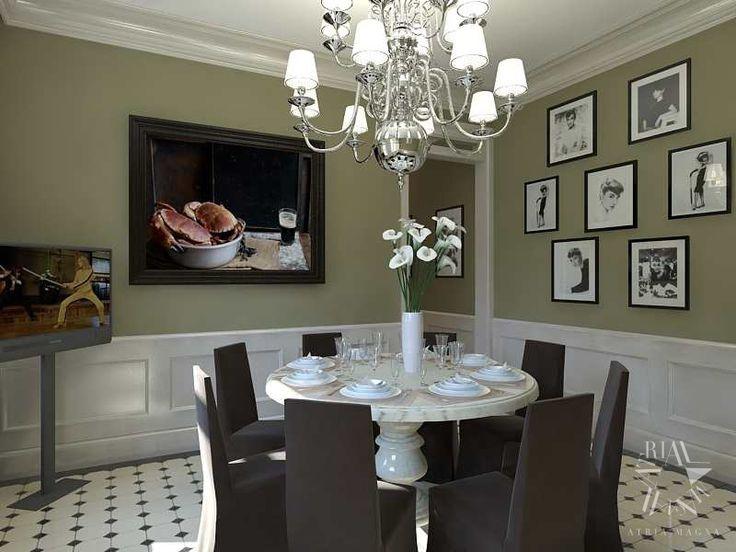 Классический дизайн интерьера квартиры на Садовнической набережной от Atria Magna.