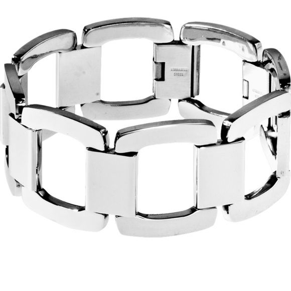 Dolly steel bracelet Gorgeous stainless steel bracelet. Some wear as I wore it many times. Price reflects that. Tocara Jewelry Bracelets
