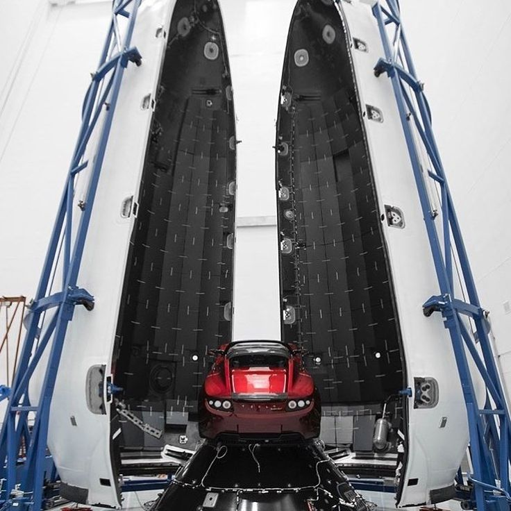 Elon Musks Tesla Roadster mounted on the payload attachment fitting and ready for its Mars-bound voyage.  . . . Please follow us @engineer.republic for more interesting content! Support us by buying our T-shirt >>>link inour bio  Thank you!!!! #fun #nerd #engineeringdesign #engineeringproblems #developers #engineeringmemes #civilengineering #engineeringweek #engineeringrepublic #technology #engineerslife #engineeringlife #geek #engineeringstudent #engineers #engineering #mechanics…
