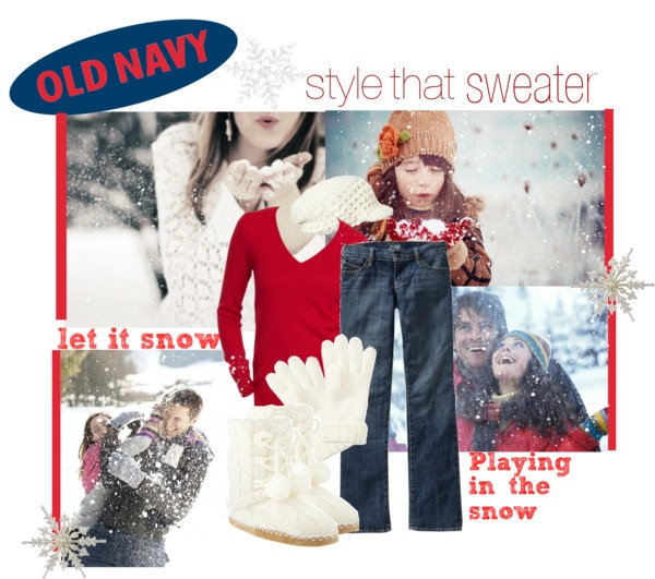 """Style That Sweater with Old Navy"" by southerncharmgurls8783 ❤ liked on Polyvore"