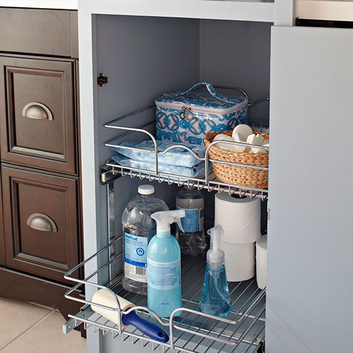 for easy pullout storage consider installing a kitchen revashelf in your bathroom cabinet - Lowes Storage Cabinets