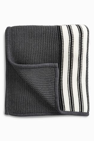 Monochrome Stripe Blanket - Next £20