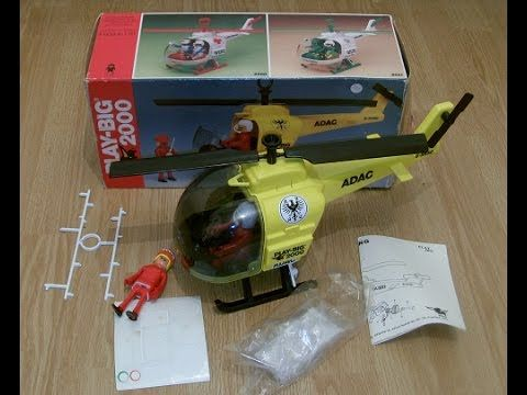Play-Big 2000 playmobil marx play people Adac Helicopter
