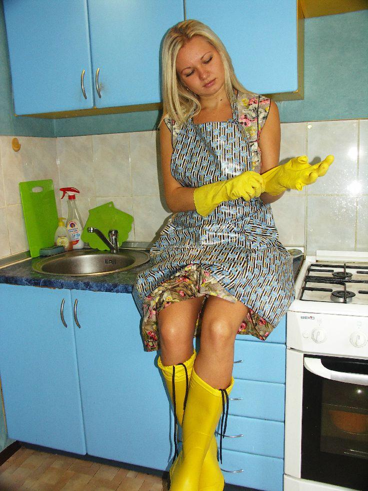 Christina  Rubber Gloves, Leather Gloves, Pvc Apron-6619