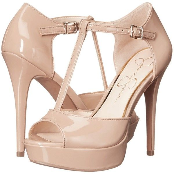 Jessica Simpson Bansi (Nude) High Heels ($45) ❤ liked on Polyvore featuring shoes, sandals, beige, nude high heel sandals, jessica simpson shoes, high heel sandals, platform sandals and fleece-lined shoes