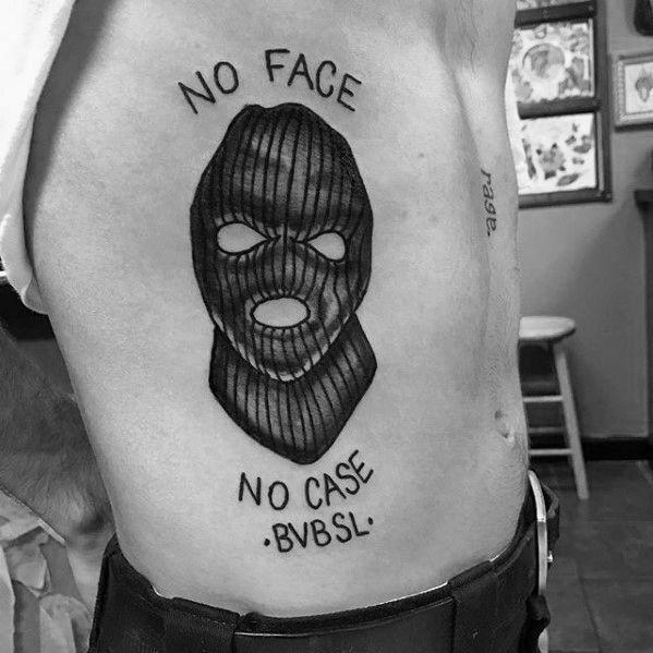 30 Ski Mask Tattoo Designs Für Männer