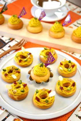 「Wかぼちゃのモンブラン焼きドーナッツ☆」ぱお | お菓子・パンのレシピや作り方【corecle*コレクル】
