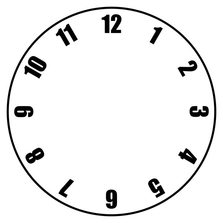 Best  Blank Clock Ideas On   Learn To Tell Time