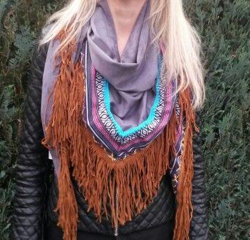 Ibiza scarf grey