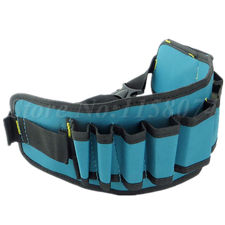 Carpenter Rig Hammer Tool Bag Waist Pockets Electrician Tool Pouch Holder Pack Men Multi-Pockets Tool Bag Utility Pouch Belt Bag