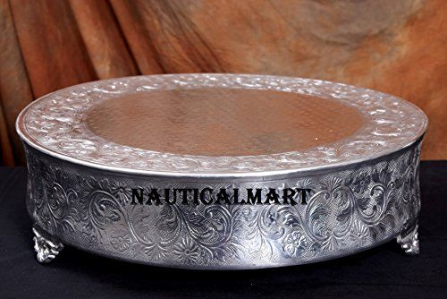 NauticalMart Aluminum Wedding Cake Stand - Silver 22 inch... https://www.amazon.co.uk/dp/B0745BF464/ref=cm_sw_r_pi_dp_x_OxD6zbC8XR5PR