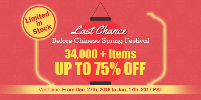 Last Chance Before Chinese Spring Festival