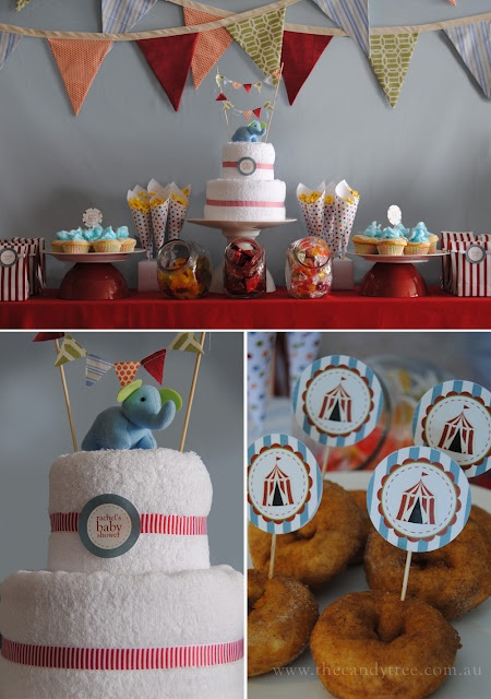 circus baby shower from the candy tree