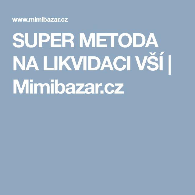 SUPER METODA NA LIKVIDACI VŠÍ | Mimibazar.cz