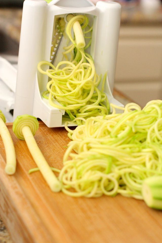 """You won't miss starchy wheat pasta with these perfect zucchini noodles!"" Interesting"