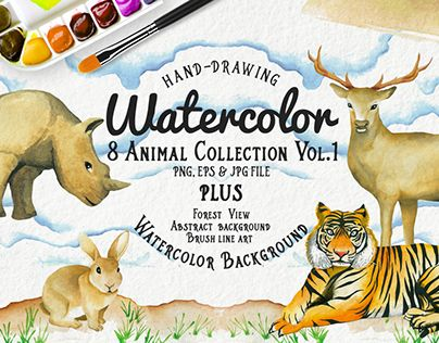 "Check out new work on my @Behance portfolio: ""Watercolor Animal Vol.1 Plus Bonuses"" http://be.net/gallery/32111123/Watercolor-Animal-Vol1-Plus-Bonuses"