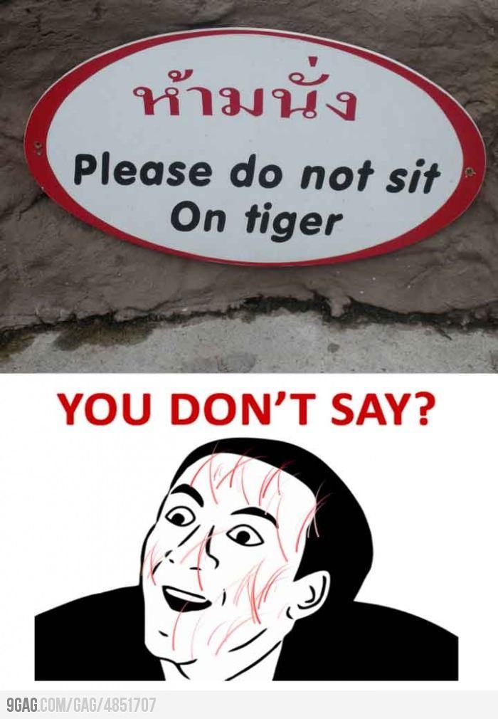 Seen at a Thailand Zoo...