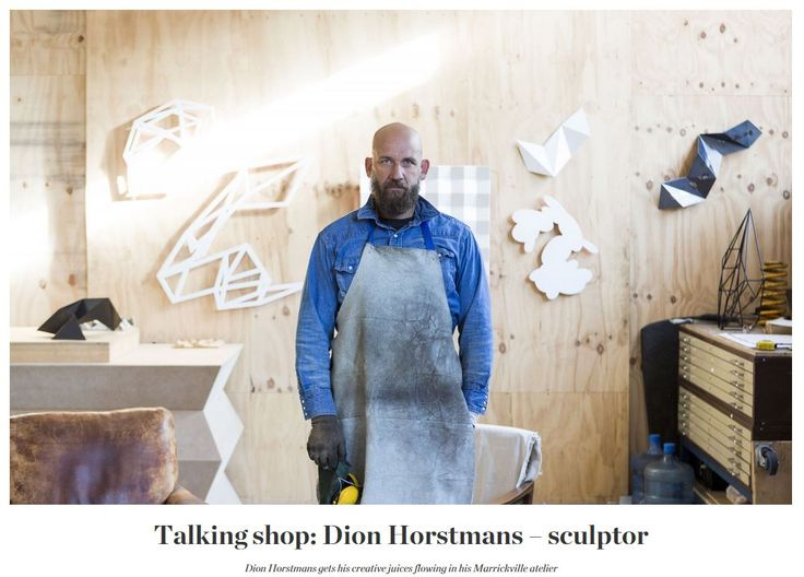 Dion's graphically fantastic wall sculptures are objects of much desire these days. And to evolve his work in a truly stimulating environment he recently moved his atelier to Marrickville. We did a studio visit with Dion, to find out how things are progressing in this hotbed of creativity.