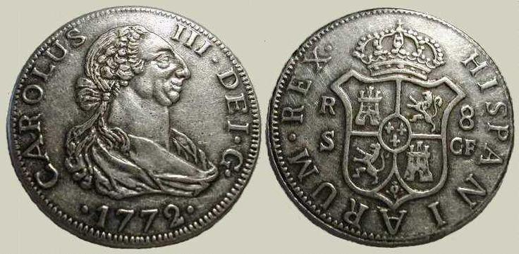 8 reales plata. Sevilla, 1772