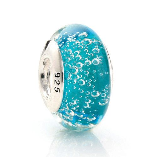 925 Sterling Silver Murano Glass Beads Europe Fits Pandora Charm Bracelets Necklaces & Pendants DIY Jewelry Making