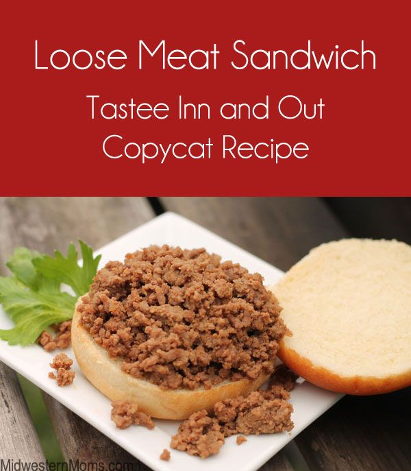 It is the best loose meat sandwich around! Copycat recipe for the Tastee Sandwich, a staple at the Tastee Inn and Out Restaurant popular in the Midwest.