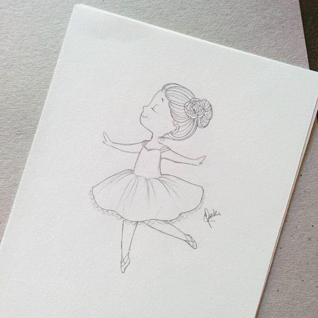 ballerina, bailarina, scketch, draw, drawing , design, cute, cutedesign, littlegirl, illustration, desenho, rabisco, lapis, art