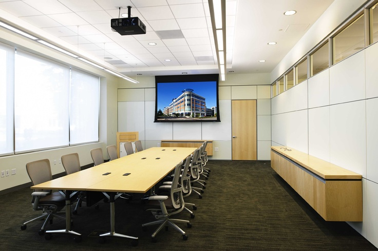 Solid Wall Clerestory Wall Mount Millwork Conference Rooms Commercial Office Design Wall
