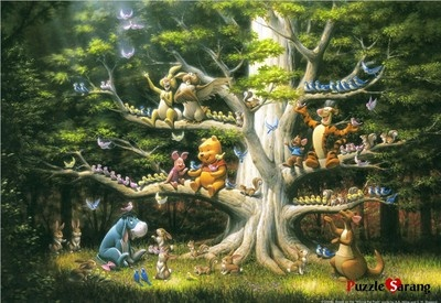 """Jigsaw Puzzles 2000 Pieces """"Pooh and Woods Friends"""" / Disney / Tenyo"""