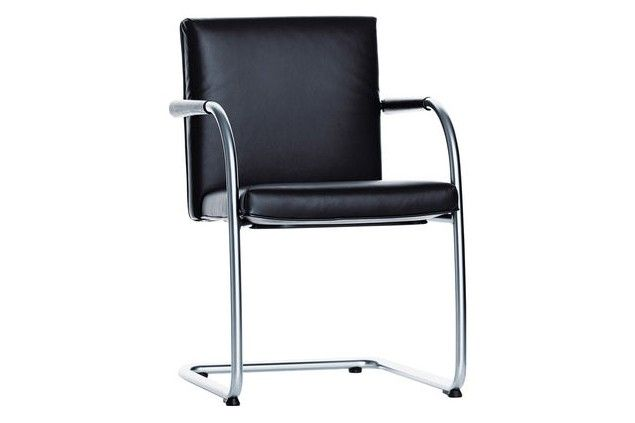 Visasoft Non Stacking Leather 72 Snow 04 Glides For Carpet Cantilever Chair Vitra Design Chair