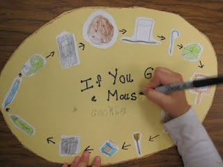 If You Give a Mouse a Cookie- Use giant cookie to retell, cause and effect