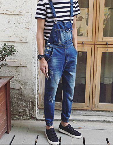 Denim Men's Pocket Slim Ripped Ankle Banded Overalls Size 29 http://www.99wtf.net/men/mens-fasion/idea-dress-men-dark-skin/