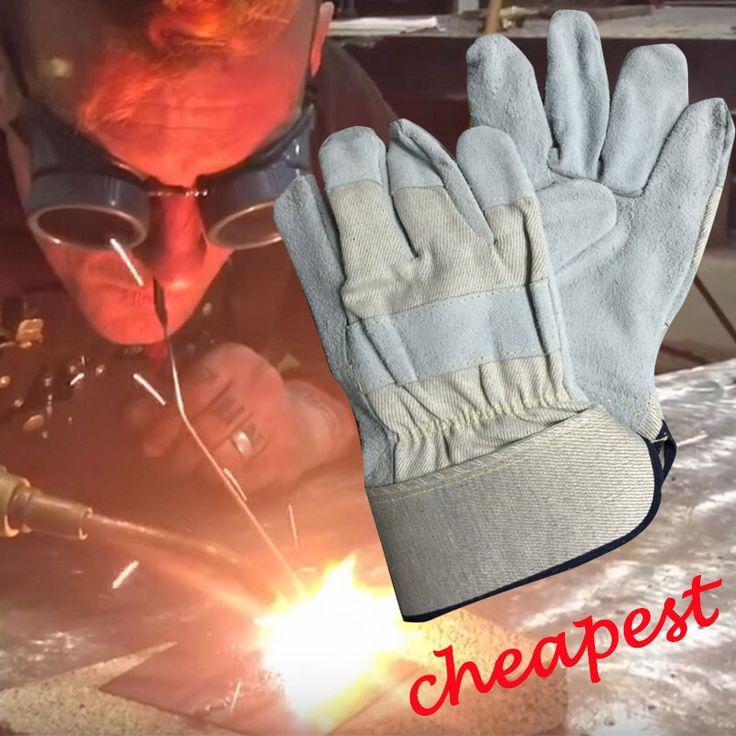 NMSAFETY 2 Pairs safety welding gloves heat insulation gloves cowhide welding gloves