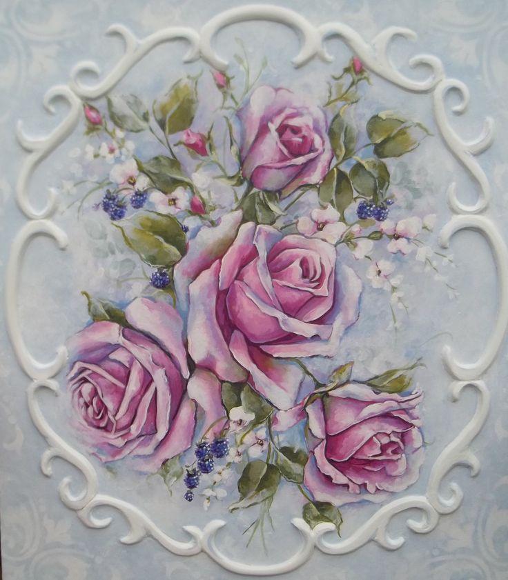 потертый роза живописи романтические розы викторианской по RoyalRococo