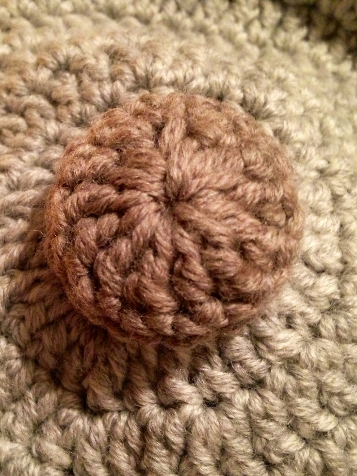 Crocheted Button.