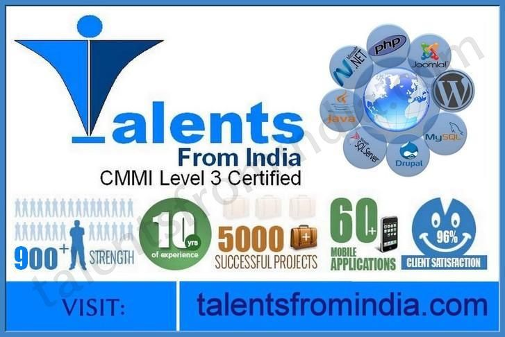 TalentsFromIndia is a leading software-development company having the biggest web development team in Central India. We have 10+ years of experience and have worked on 5000+ successful projects. We are backed by expert software programmers who provide web development, mobile development, web design services and many more. To more about our services, visit: https://www.talentsfromindia.com/