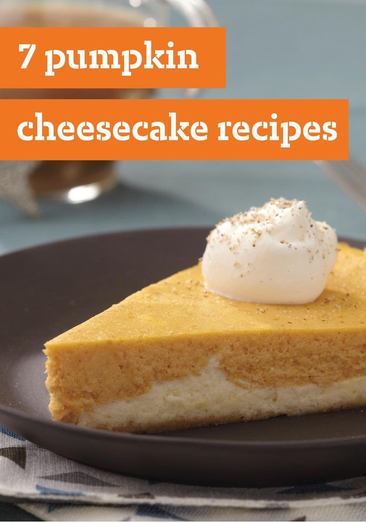 7 Pumpkin Cheesecake Recipes -- Check out these sensational pumpkin cheesecake recipes by Kraft Foods, including a delicious spiced pumpkin cheesecake recipe with fresh pecans and PHILADELPHIA Cream Cheese.