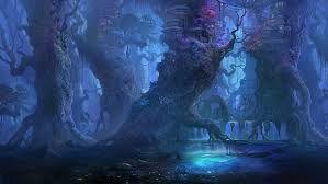 Картинки по запросу туманный лес ночью