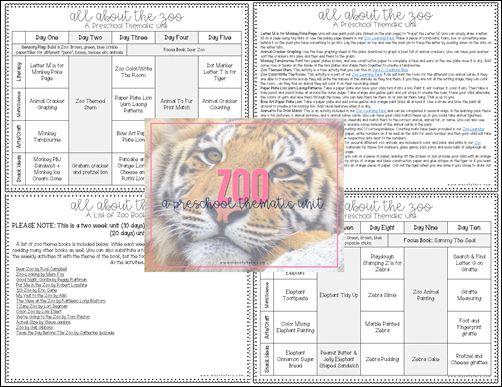 Zoo Preschool Unit Plans & Resources