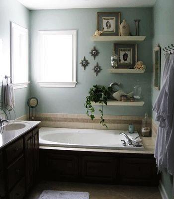 bathtub shelf | Modern bathroom decorating ideas, staging home interiors for sale ...