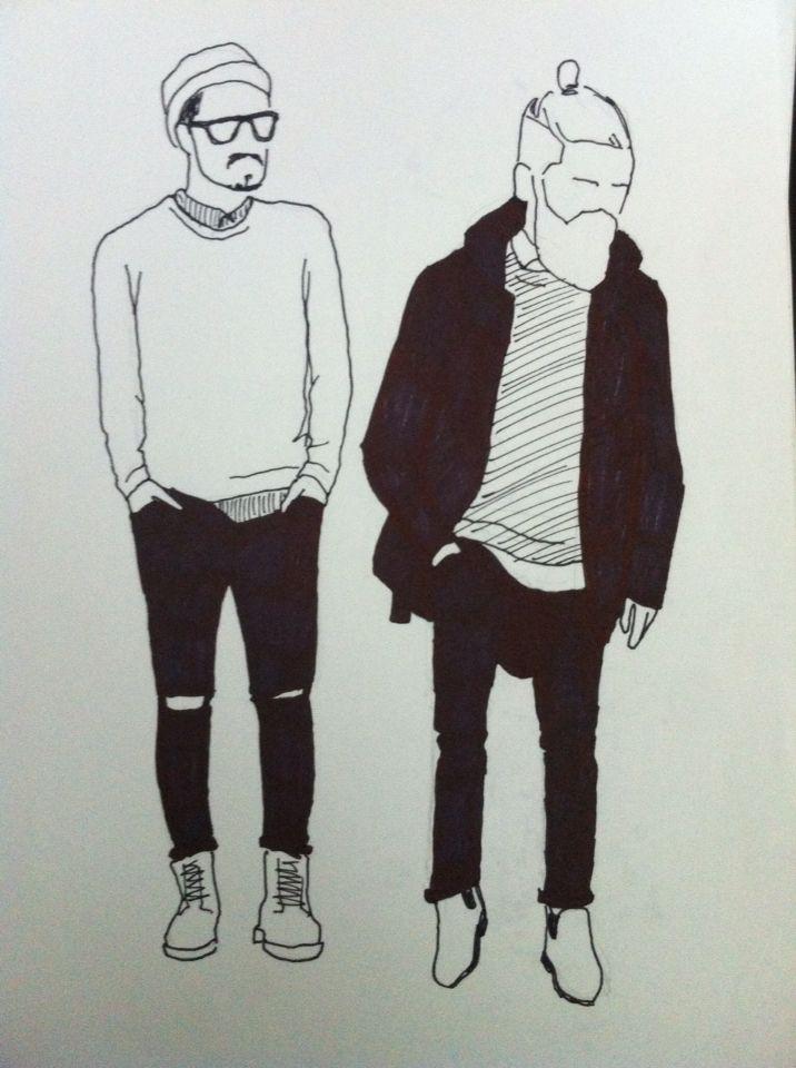 Clothing guys Illustration Drawing Ink