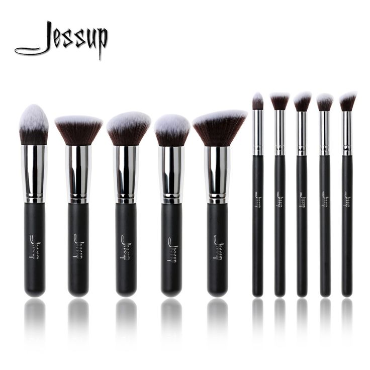 New Jessup Brand Professional 10pcs Black/Silver Foundation blush Liquid Kabuki brush Makeup Brushes tools set Beauty Cosmetics. Yesterday's price: US $18.83 (15.34 EUR). Today's price: US $15.63 (12.81 EUR). Discount: 17%.