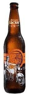 Cerveja Backer Capitão Senra, estilo Amber Lager, produzida por Cervejaria Backer, Brasil. 5.3% ABV de álcool.