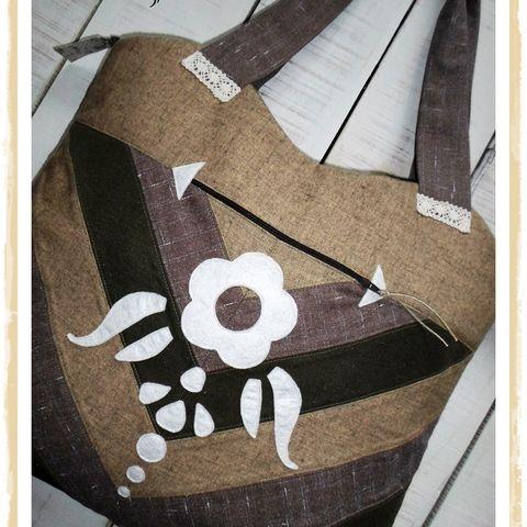 """""""Föld színek- folk art"""", óriás méretű táska, válltáska, Táska, Válltáska, oldaltáska, Meska"""