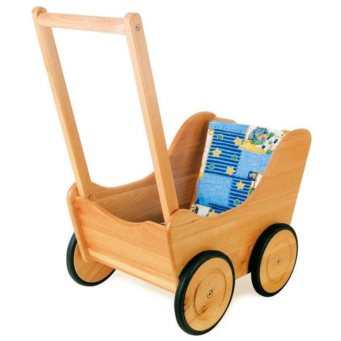 cochecito de juguete de madera para peluche o mueca nios motricidad educacion