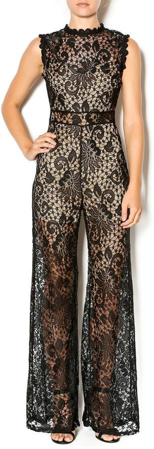 Pin for Later: Thanks to Emily Ratajkowski, We're Now Shopping For Lace Pants  Mystic Lace Jumpsuit ($56)
