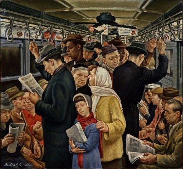 Subway Rush Hour | Josie Holford: Rattlebag and Rhubarb