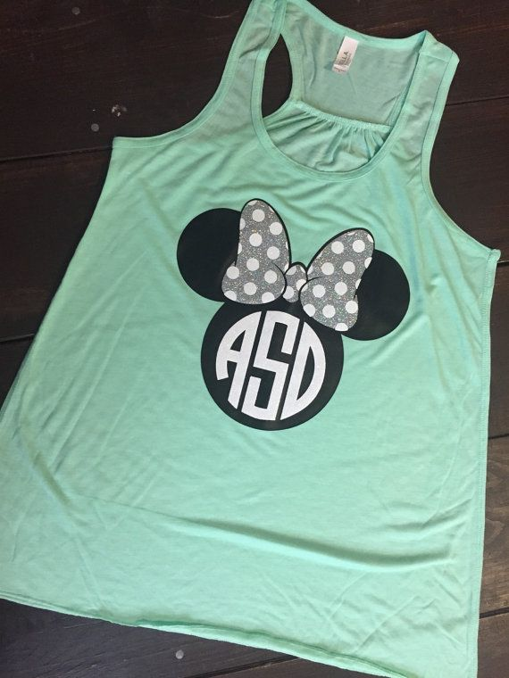 Minnie Mouse Racerback Monogrammed Tank  by KrazyHeartStudios