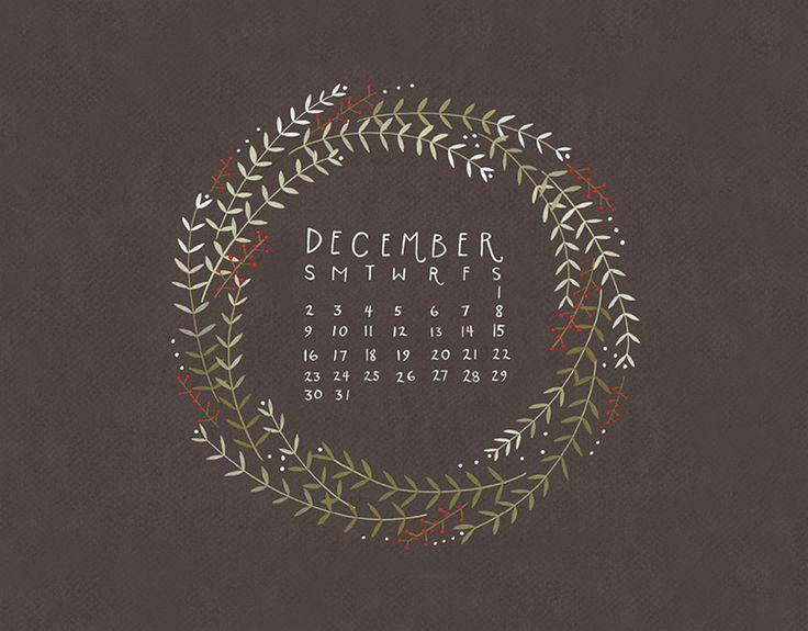 adored art: december desktop calendars | thoughts by natalie {image via Dear Friend}