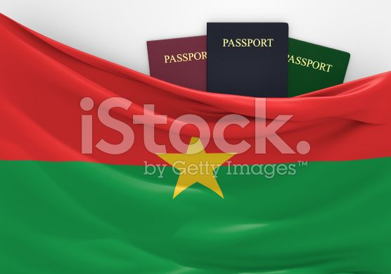 Travel and tourism in Burkina Faso, with assorted passports royalty-free stock photo