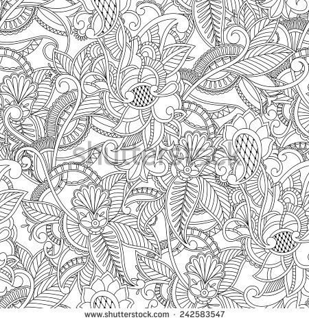 Paisley Pattern Colouring Sheets : 196 best images about misc. coloring pages on pinterest